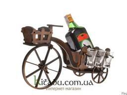 """Подставка для вина """"Ровер"""" с комплектом рюмок"""