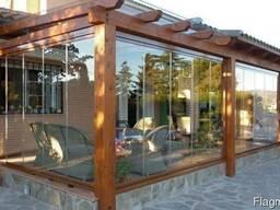 Деревянная терраса с верандой. Строительство под ключ.