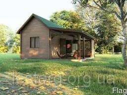 Деревянный дом -бунгало из профилированного бруса 43,75 м кв
