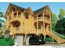 Деревянный дом. Дом из оцилиндрованного бревна