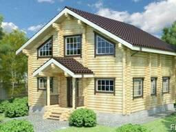 Деревянный дом из оцилиндрованного бревна 9х9 м