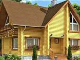 Деревянный дом из профилированного клееного бруса 10х11 м - фото 1