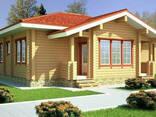 Деревянный дом из профилированного клееного бруса 11х12 м - фото 2