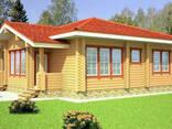 Деревянный дом из профилированного клееного бруса 11х12 м - фото 1