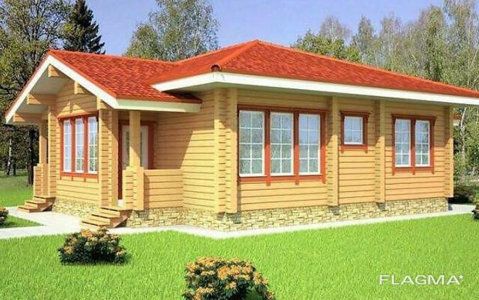 Деревянный дом из профилированного клееного бруса 11х12 м