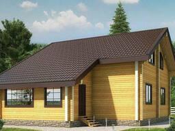 Деревянный дом из профилированного клееного бруса 12х9 м
