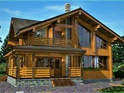 Деревянный дом из профилированного клееного бруса 13х11 м