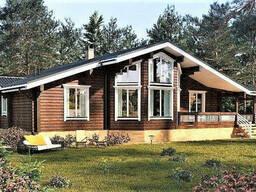 Деревянный дом из профилированного клееного бруса 17х12 м