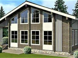 Деревянный дом из профилированного клееного бруса 8х13 м
