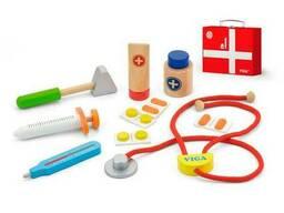 Деревянный игровой набор Viga Toys Чемоданчик доктора (50530)