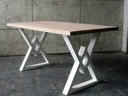 """Деревянный стол """"Delta"""" из массива ясеня в стиле LOFT"""