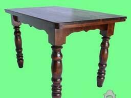 Деревянный стол для кафе на 4 ноги, 160х80