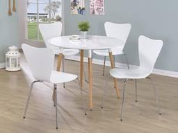 Деревянный стул Ант, белый, натуральный дуб