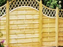 Деревянный забор со шпалерой. Под заказ. Код: ДО-2