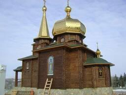 Деревянные церкви, дома из оцилиндро бревна и клееного бруса