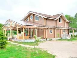 Деревянные дома из клееного бруса, клееные балки , доска пол - фото 2