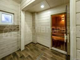Деревянные дома из клееного бруса, клееные балки , доска пол - фото 4