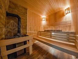 Деревянные дома из клееного бруса, клееные балки , доска пол - фото 5