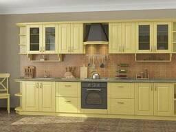 Фасады для кухни из массива дерева ольхи и ясеня