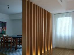 Деревянные рейки для перегород, стен, потолков