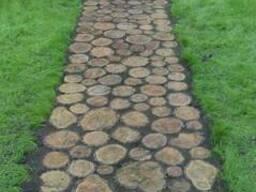 Садовые дорожки дрова дуб акация деревянные срезы