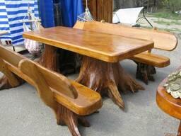 Деревянные столы стулья, скамейки - Дачная мебель, беседки. - фото 4