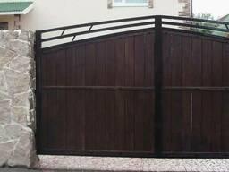 """Деревянные ворота для дома """"Модерн""""Код: ВК-6 Под заказ"""