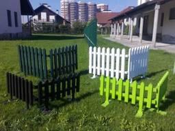 Деревянные заборчики для частного сектора, сада, клумбы