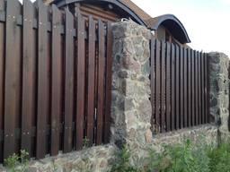 Деревянные заборы , терассы , балконы