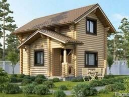 Деревяный дом из оцилиндрованного бревна 5х6 м