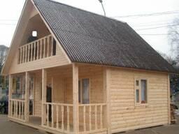 Деревяные дачи,домики,бани (каркасно-щитовая технология)