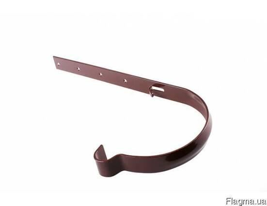 Держатель желоба металлический коричневый Profil130 мм