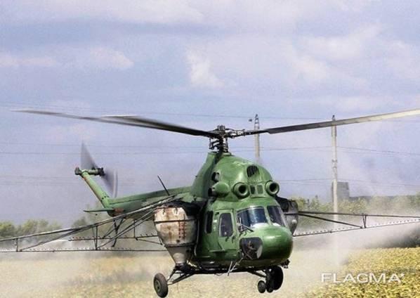 Десикация подсолнечника мотодельталетом самолетом вертолетом
