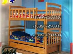 Детская двухъярусная деревянная кровать трансформер. Новая!