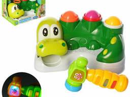 """Детская игра стучалка """" Крокодил """" музыкальная Limo Toy (M 5475)"""