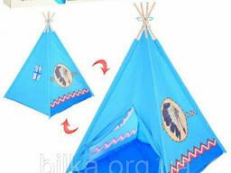 Детская игровая Палатка-Вигвам Bambi M 5496 (синяя) для мальчика и девочки