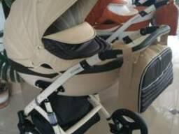 Детская коляска Люми 2 в 1 Viki Saturn эко кожа