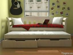 Детская кровать из дерева Тедди Дуо с выдвижным этажом ТМ Лу