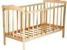 Детская кроватка Наталка простая нелакированная