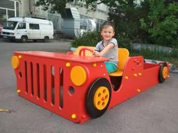 Детская песочница-машинка для загороднего дома или дачи