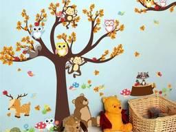 Детская виниловая наклейка на стену , в детскую комнату. ..