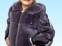Детская зимняя курточка из натурального меха рекса
