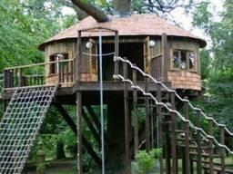 Детские игровые домики на деревьях