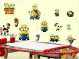 """Детские интерьерные наклейки на стену """"Миньйоны"""" (042) - фото 2"""