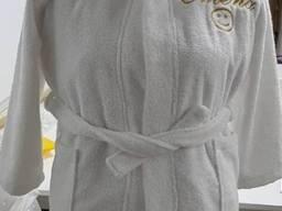Детские махровые халаты с капюшоном