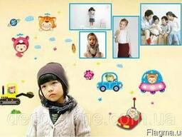 Детские наклейки на стены, для детского сада 4 фоторамки(070)