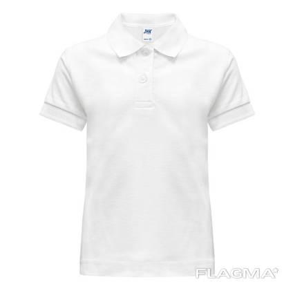 Детская рубашка-поло цвет белый