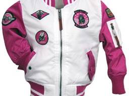 Детский бомбер Top Gun Kids Color Block MA-1 Bomber (розовый)