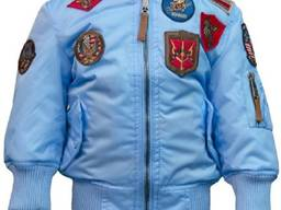 Детский бомбер Top Gun Kids MA-1 Aviator Bomber (голубой)