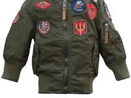 Детский бомбер Top Gun Kids MA-1 Aviator Bomber (оливковый)